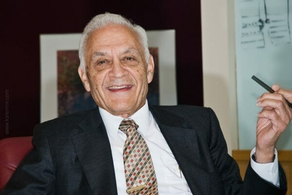 Inventor and audio pioneer Dr. Amar Bose in his office