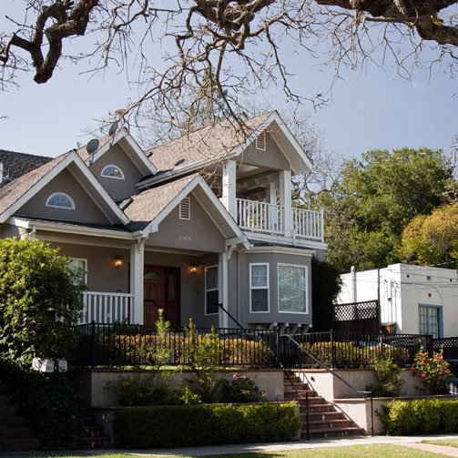 House in Palo Alto, formerly rented by Facebook founder Mark Zuckerberg
