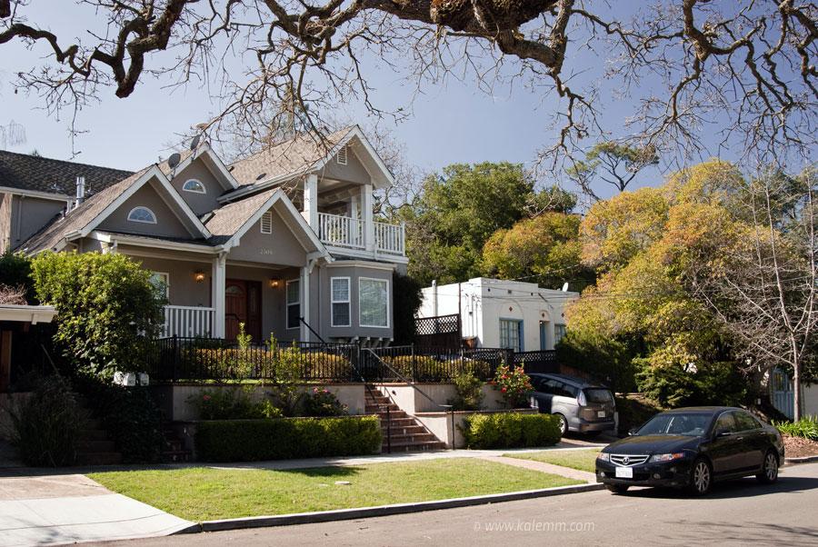 Former house of Facebook founder Mark Zuckerberg in Palo Alto