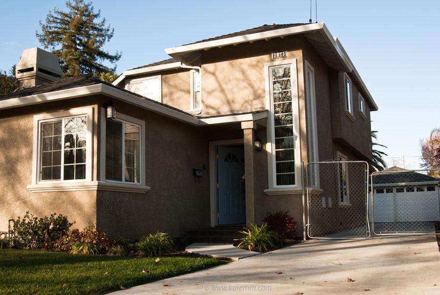 Early house of Facebook founder Mark Zuckerberg in Palo Alto
