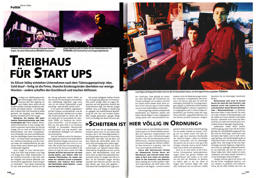 Early Google article in German magazine