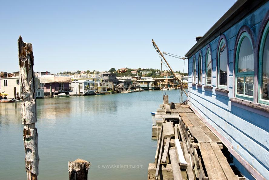 Hausboote in Sausalito: Hier wurde das erste soziale Netzwerk der Welt, The Well, geboren