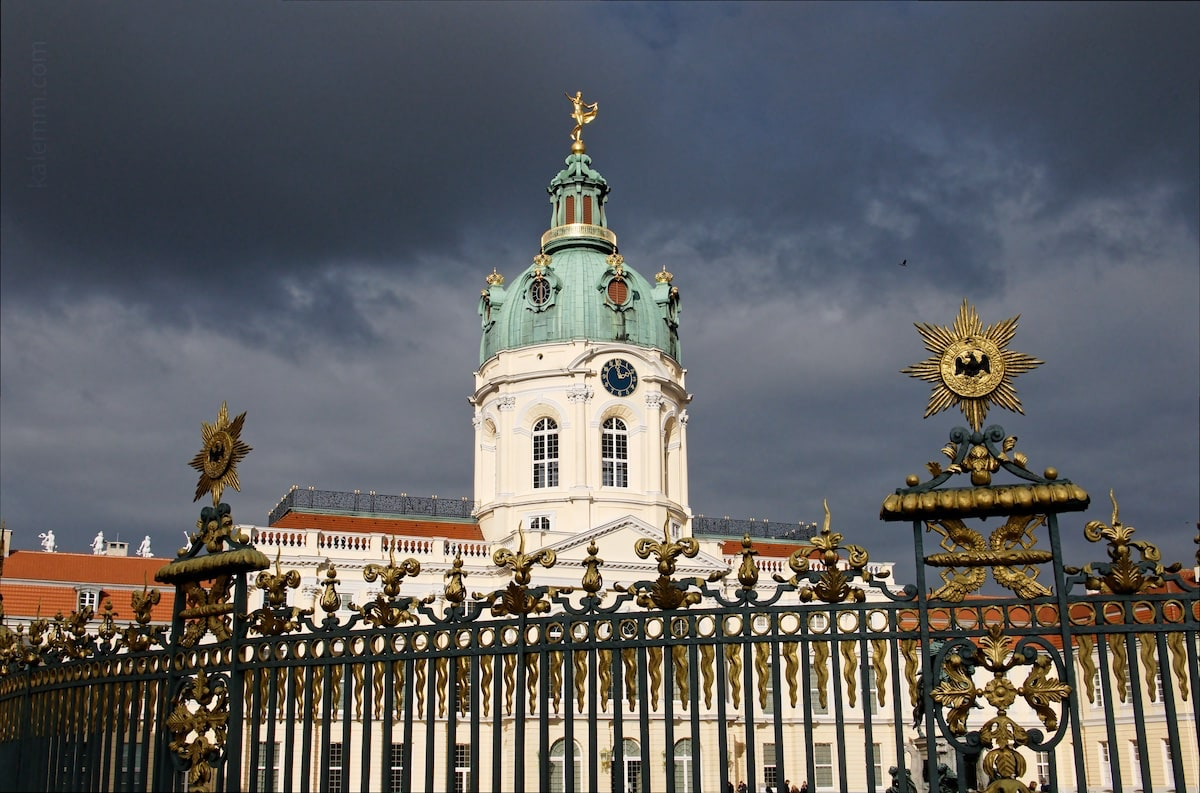 Charlottenburg Palace, Berlin, moody, cloudy, contrast, sun