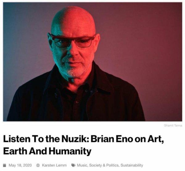 Brian Eno, musician, thinker, DLD Sync, webinar, recap