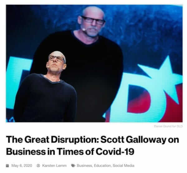 DLD Sync, Scott Galloway, recap, summary