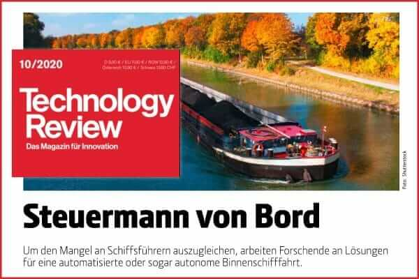 Artikel, autonone Schiffe, Technology Review, Deutschland
