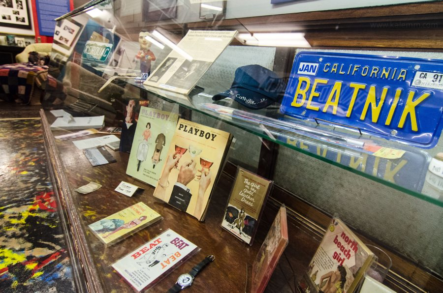 Beat Museum, San Francisco, collection with Kerouac typewriter