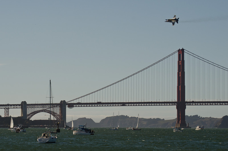 Golden Gate Bridge and Blue Angels