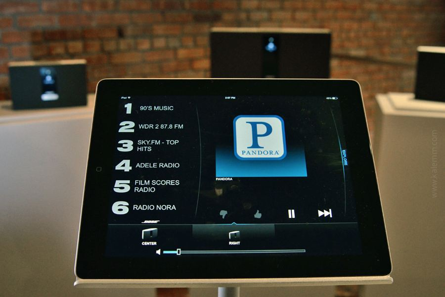 iPad with Bose SoundTouch speakers