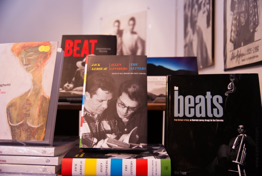 Beat poet books inside City Lights bookstore in San Francisco
