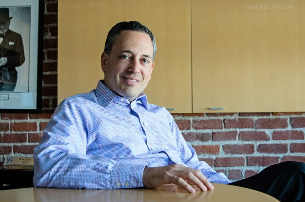 Yammer founder David Sacks in his office in San Francisco in 2011