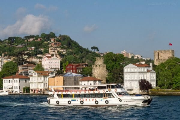 Scenic view of Asian side of Bosporus, Turkey