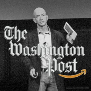 Jeff Bezos with Washington-Post logo