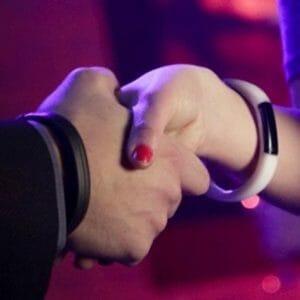 Nabu wristband handshake
