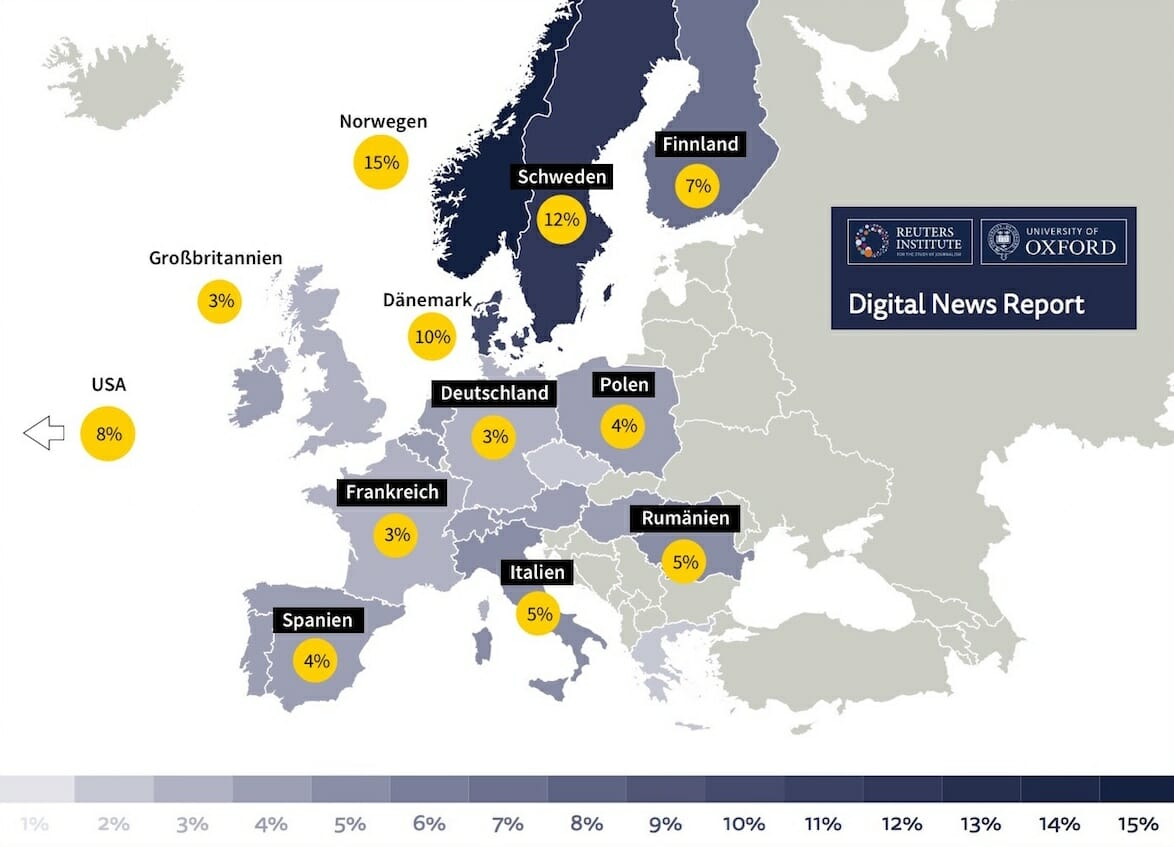 Paid news Reuters Oxford Digital News Report 2018