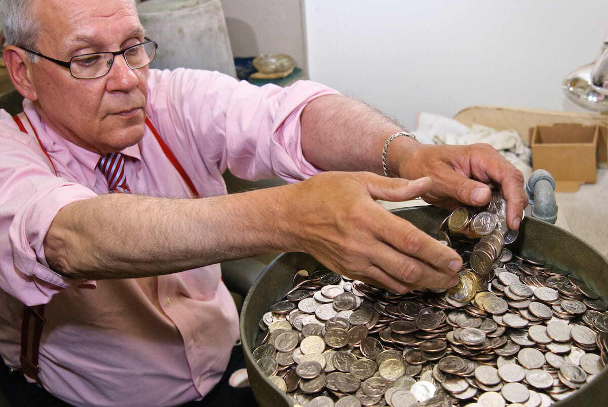 Rob Holsen, coin washer, St. Francis hotel, San Francisco