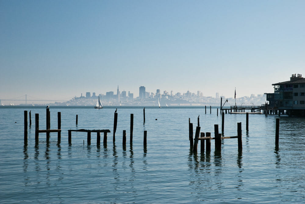 A look back at San Francisco from Sausalito